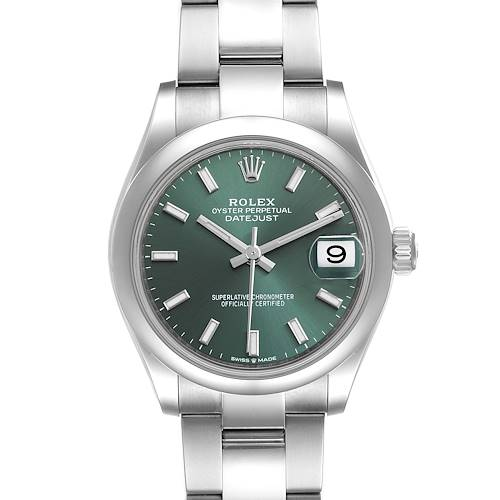 Photo of Rolex Datejust Midsize Mint Green Dial Steel Ladies Watch 278240 Unworn