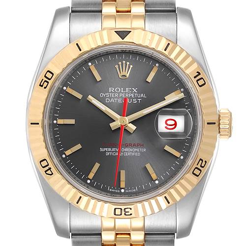 Photo of Rolex Turnograph Datejust Steel Yellow Gold Watch 116263 Box Papers