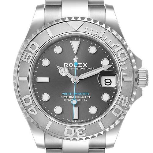 Photo of Rolex Yachtmaster 37 Midsize Steel Platinum Mens Watch 268622 Unworn