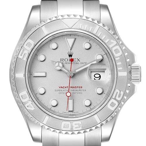Photo of Rolex Yachtmaster 40 Steel Platinum Dial Bezel Mens Watch 16622
