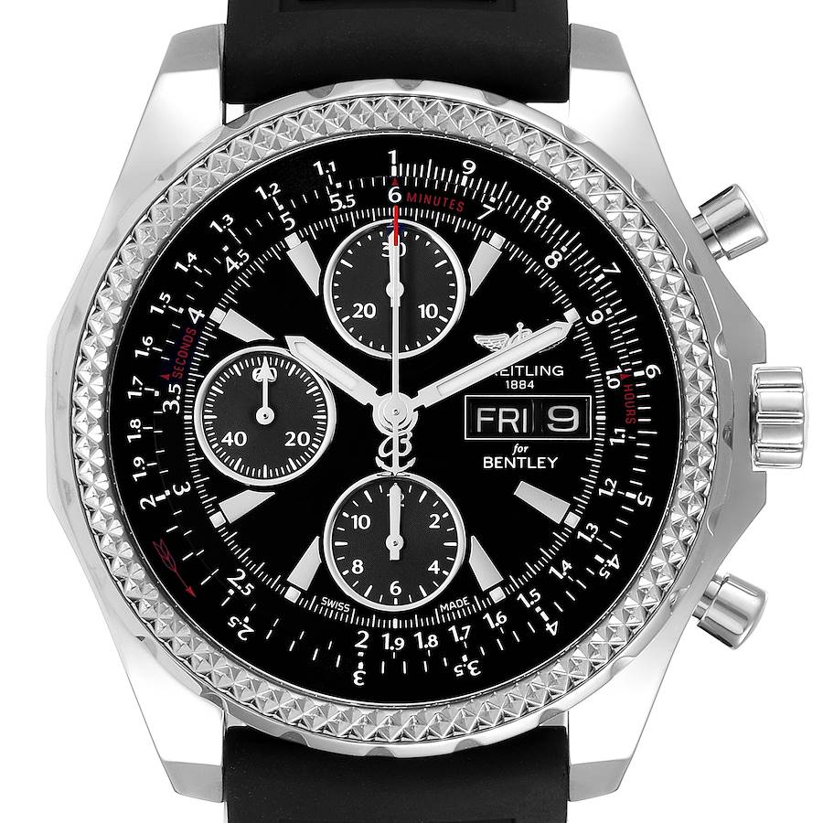 Breitling Bentley Motors GT Special Edition Mens Watch A13362 Box Papers SwissWatchExpo