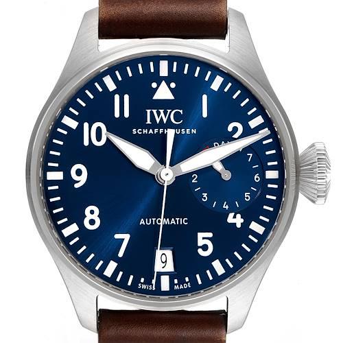 Photo of IWC Pilot Le Petit Prince Big Pilots Blue Dial Steel Mens Watch IW501002