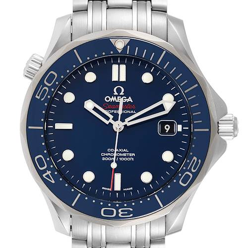 Photo of Omega Seamaster Diver Co-Axial Mens Watch 212.30.41.20.03.001 Box Card