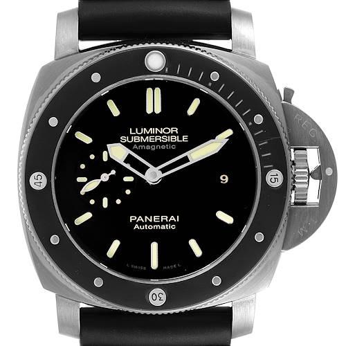Photo of Panerai Luminor Submersible 1950 Titanium Amagnetic Watch PAM00389 Box Card