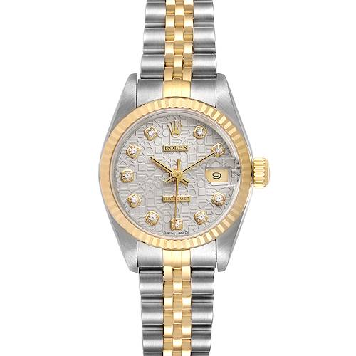 Photo of Rolex Datejust Steel Yellow Gold Diamond Dial Ladies Watch 79173 Box Papers