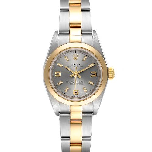 Photo of Rolex Oyster Perpetual Nondate Steel Yellow Gold Ladies Watch 76183