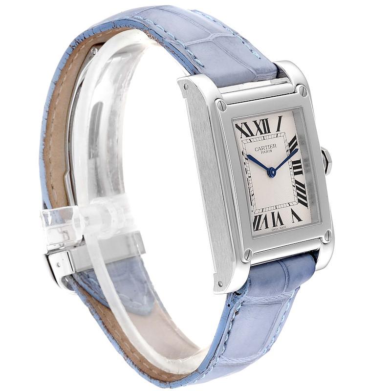 Cartier Tank A Vis Paris Privee Platinum Mens Watch W1539951P SwissWatchExpo