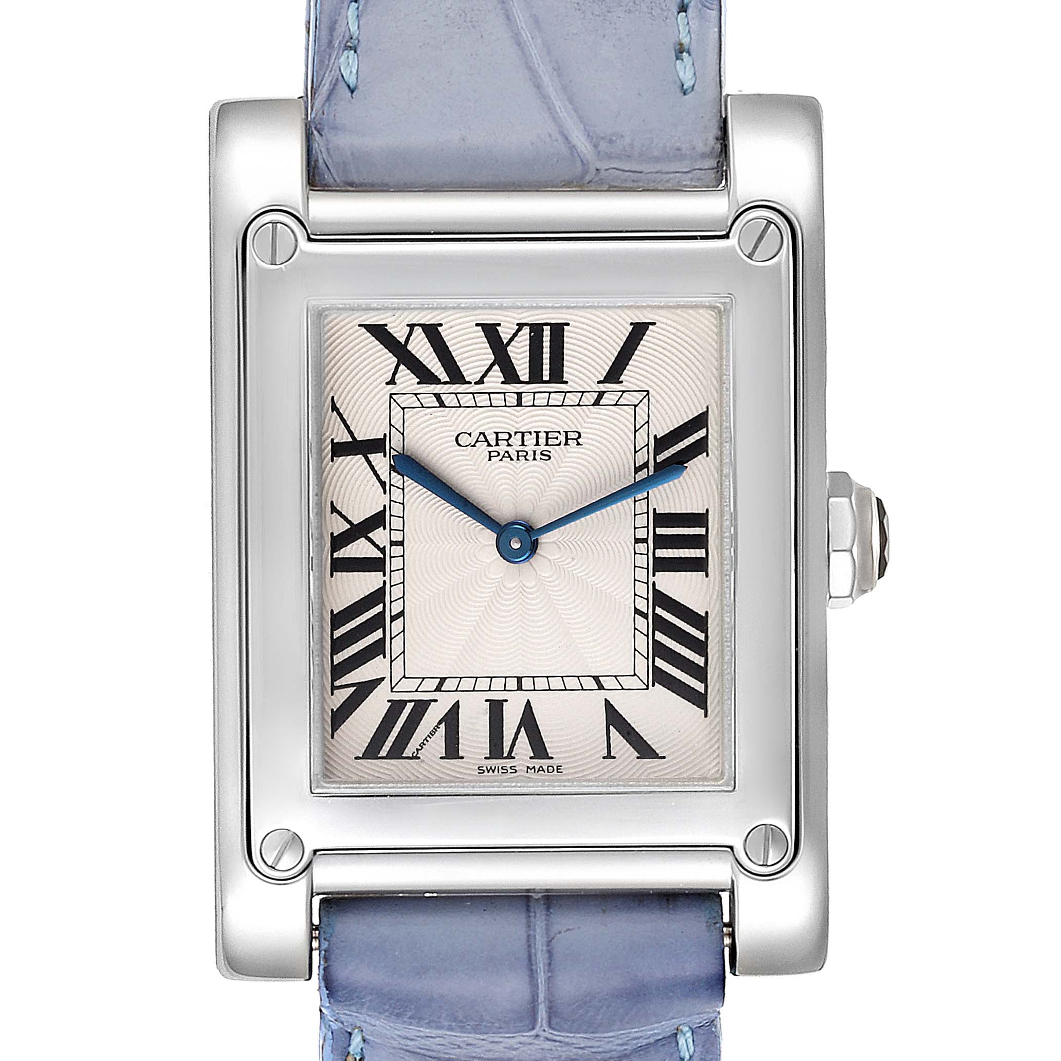 Cartier Tank A Vis Paris Privee Platinum Mens Watch W1539951P SwissWatchExpo