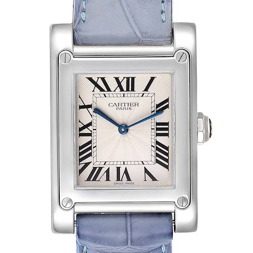 Photo of Cartier Tank A Vis Paris Privee Platinum Mens Watch W1539951P
