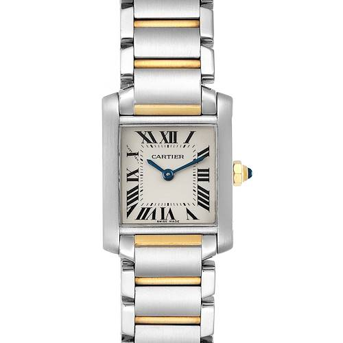 Photo of Cartier Tank Francaise Small Two Tone Ladies Watch W51007Q4 Box Papers