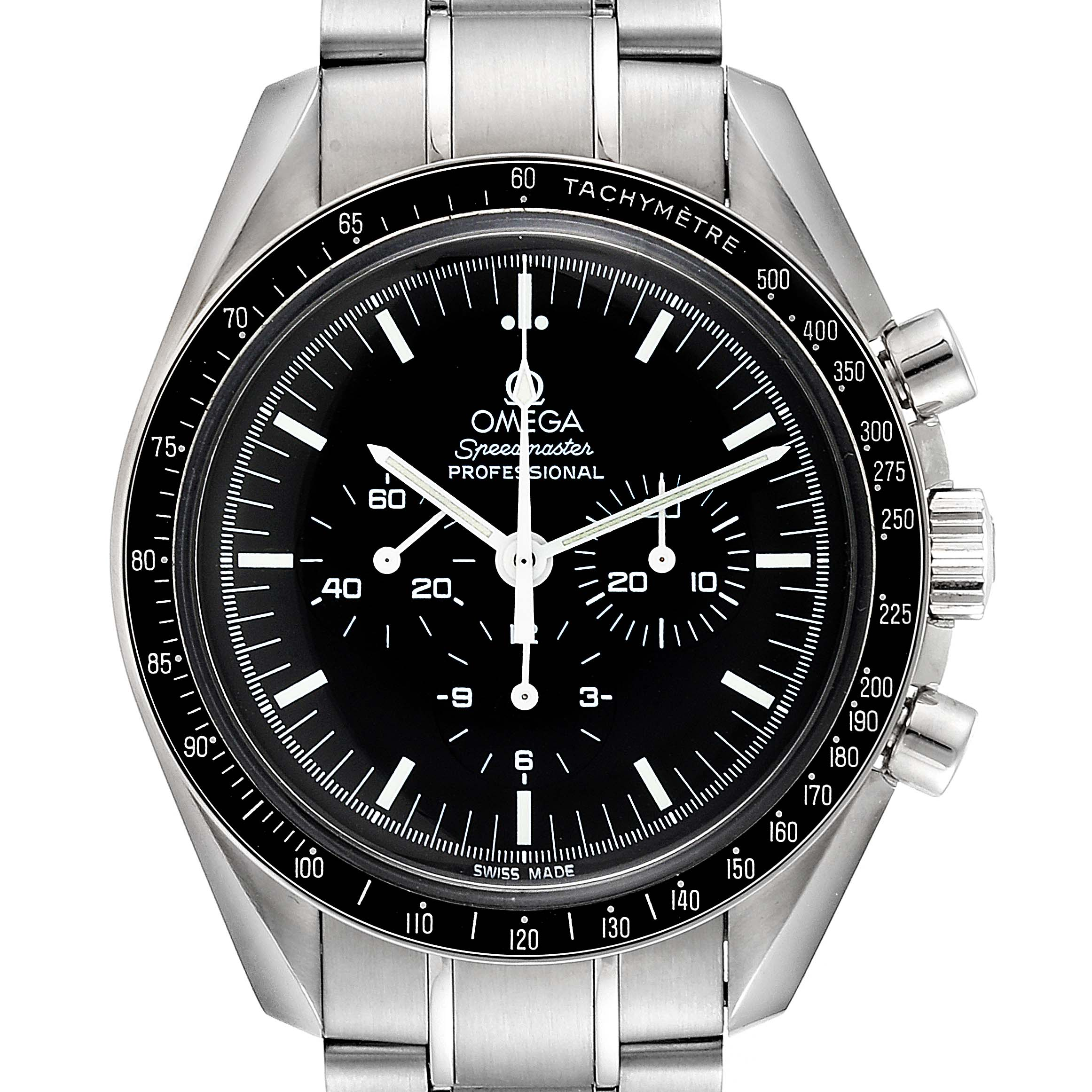 Omega Speedmaster Chronograph Black Dial Mens MoonWatch 3570.50.00