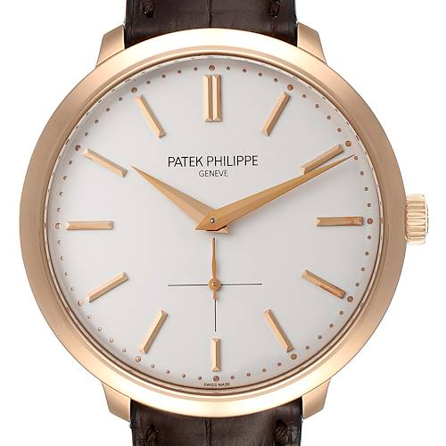 Photo of Patek Philippe Calatrava 18K Rose Gold Silver Dial Mens Watch 5123R