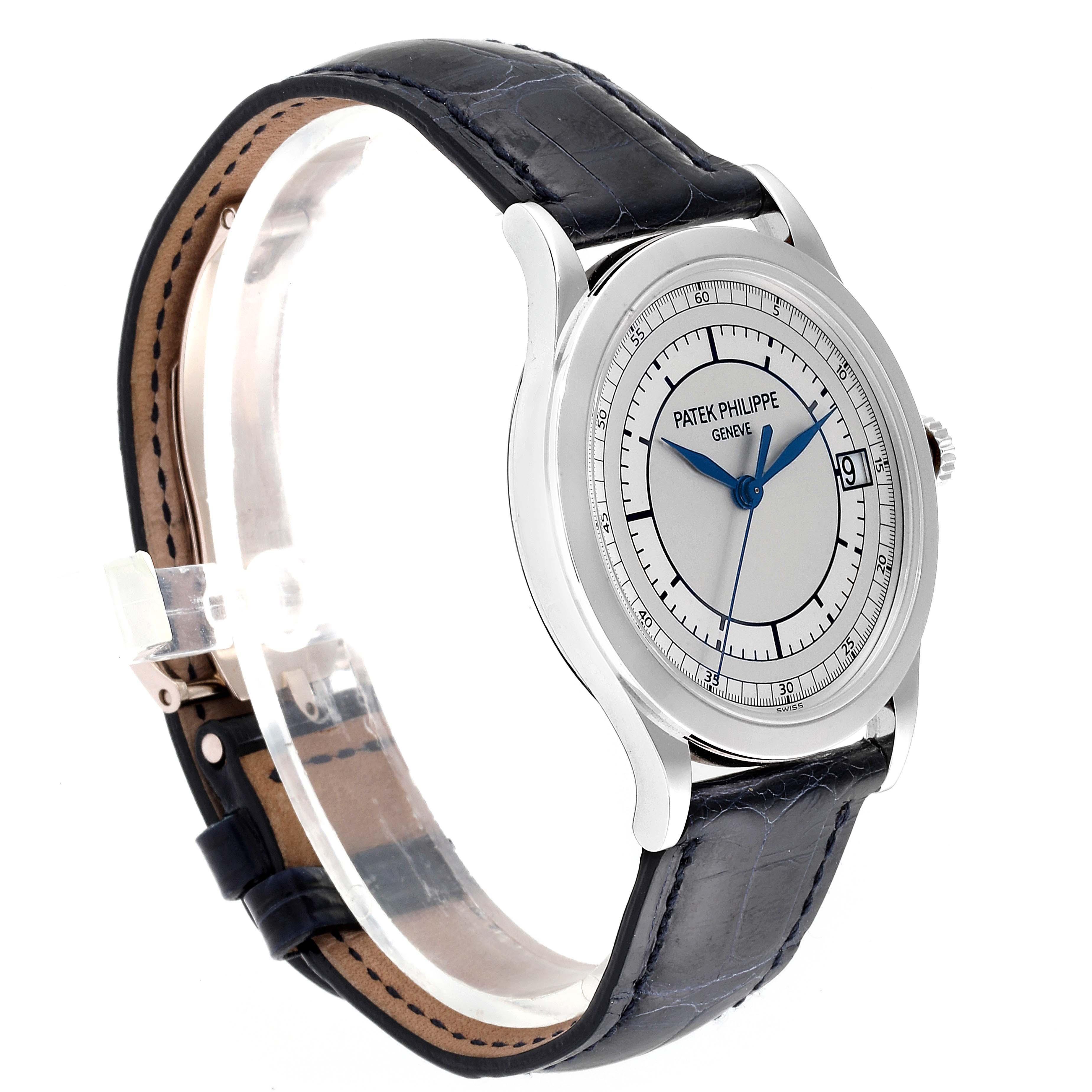 Patek Philippe Calatrava White Gold Automatic Mens Watch 5296 SwissWatchExpo