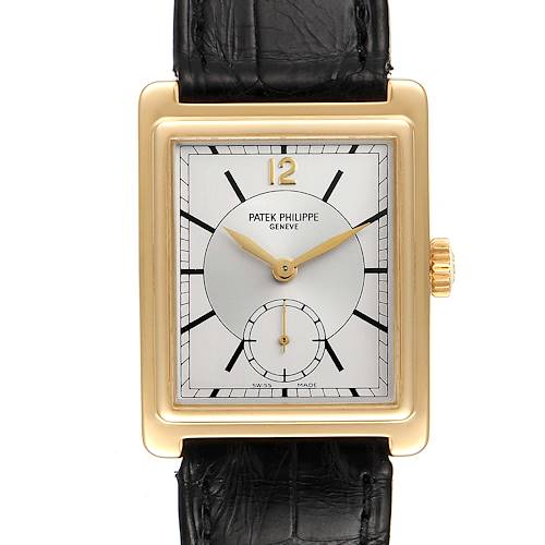 Photo of Patek Philippe Gondolo 18K Yellow Gold Silver Dial Mens Watch 5010