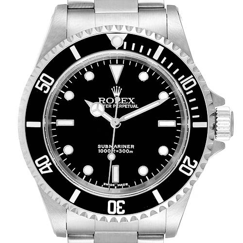 Photo of Rolex Submariner 40mm Non-Date 2 Liner Steel Steel Watch 14060 Box Papers