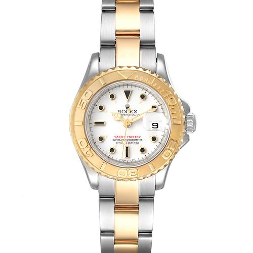 Photo of Rolex Yachtmaster 29mm White Dial Steel Yellow Gold Ladies Watch 69623