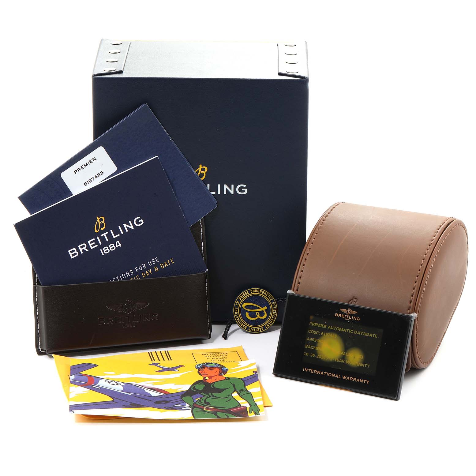 Breitling Premier Day Date 40 Steel Mens Watch A45340 Box Papers SwissWatchExpo
