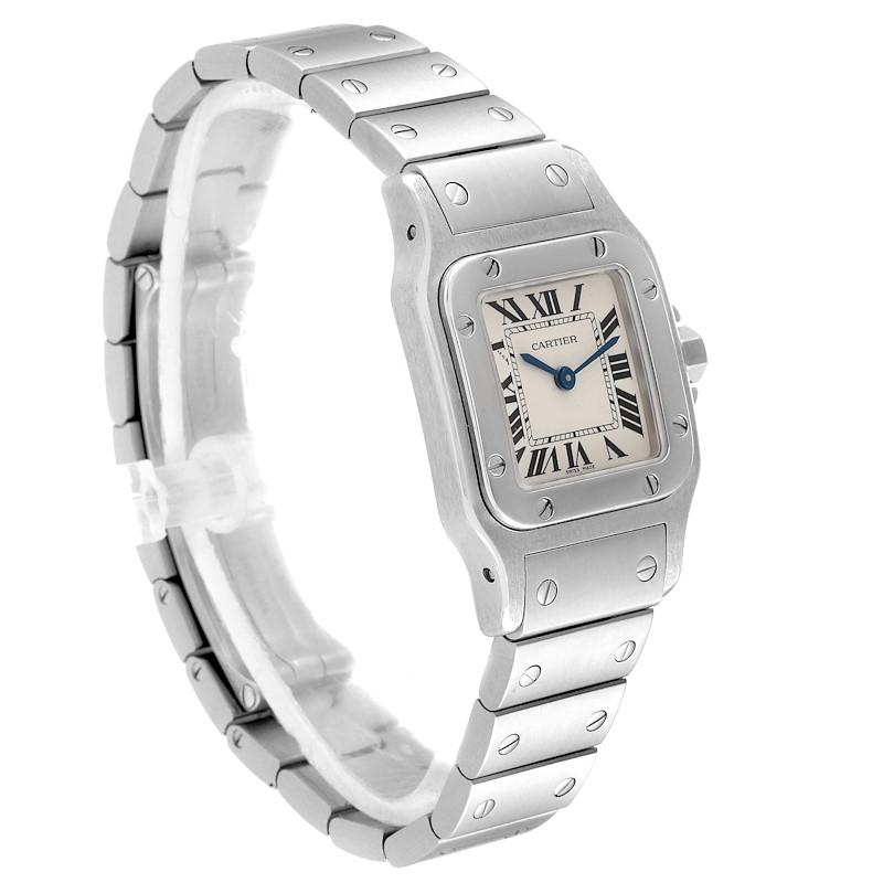 Cartier Santos Galbee Silver Dial Small Steel Ladies Watch W20056D6 SwissWatchExpo