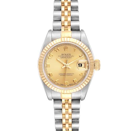 Photo of Rolex Datejust Steel Yellow Gold Ladies Watch 69173 Box Papers