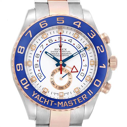 Photo of Rolex Yachtmaster II Rolesor EveRose Gold Steel Mens Watch 116681 PARTIAL PAYMENT