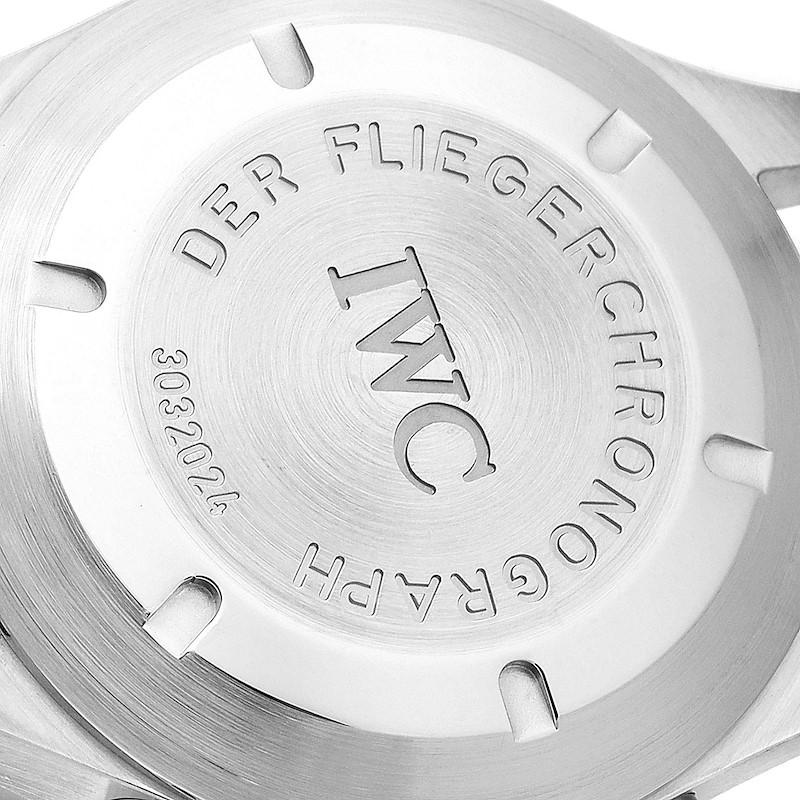 IWC Pilot Flieger Chronograph Day Date Automatic Watch IW370607 SwissWatchExpo
