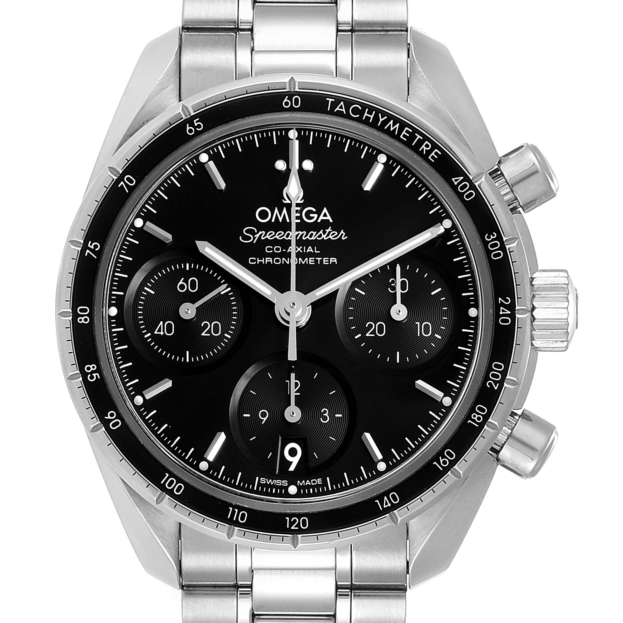 Omega Speedmaster 38 Co-Axial Chronograph Watch 324.30.38.50.01.001 Box Card