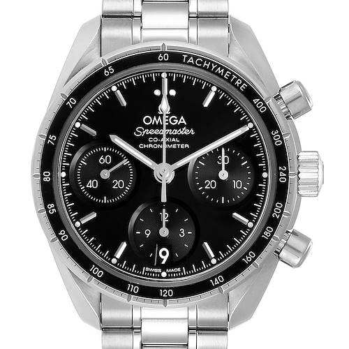 Photo of Omega Speedmaster 38 Co-Axial Chronograph Watch 324.30.38.50.01.001 Box Card