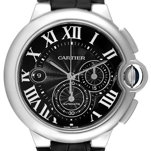 Photo of Cartier Ballon Bleu Steel Black Dial Chronograph Mens Watch W6920052
