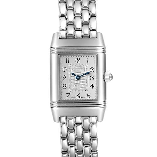 Photo of Jaeger LeCoultre Reverso Duetto Ladies Steel Diamond Watch 266.8.44