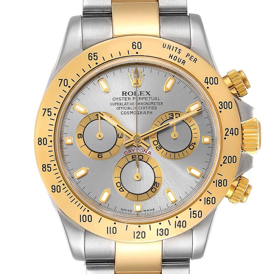 Rolex Daytona Steel 18k Yellow Gold Slate Dial Mens Watch 116523 SwissWatchExpo