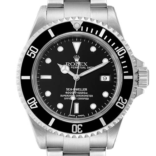 Photo of Rolex Seadweller 4000 Black Dial Steel Mens Watch 16600 Box Papers