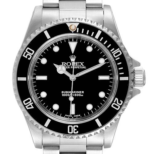 Photo of Rolex Submariner 40mm Non-Date 2 Liner Steel Mens Watch 14060 Box Papers