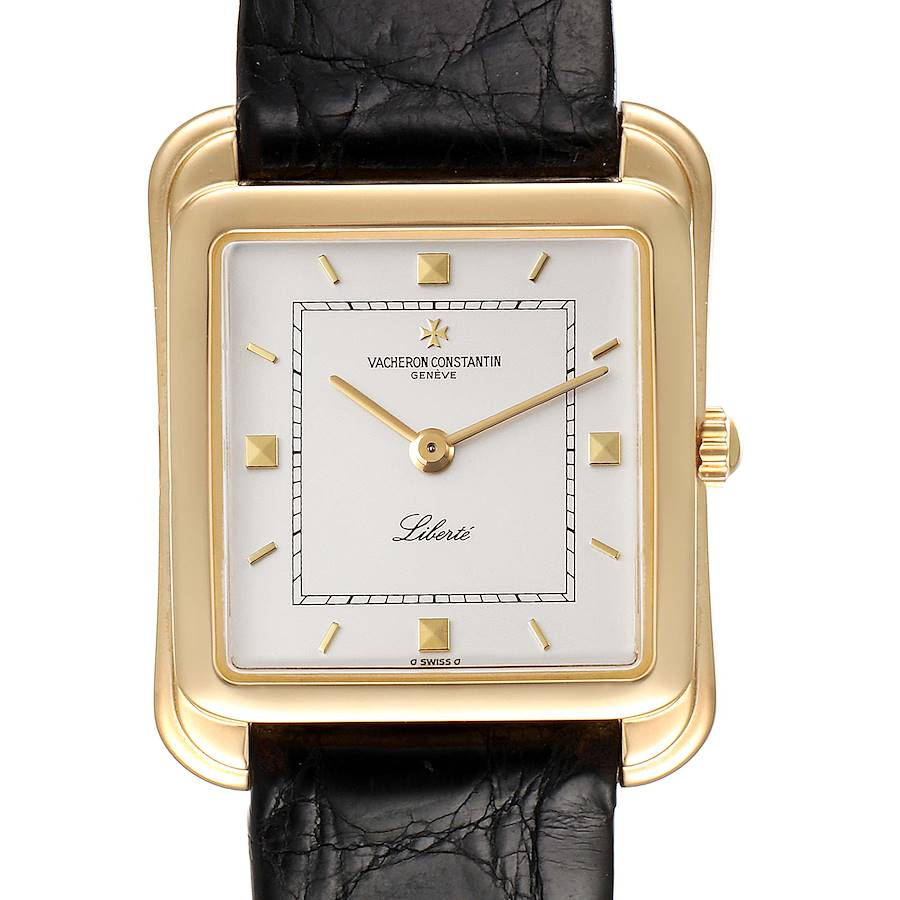 Vacheron Constantin Liberte 18K Yellow Gold Silver Dial Mens Watch 31100 SwissWatchExpo