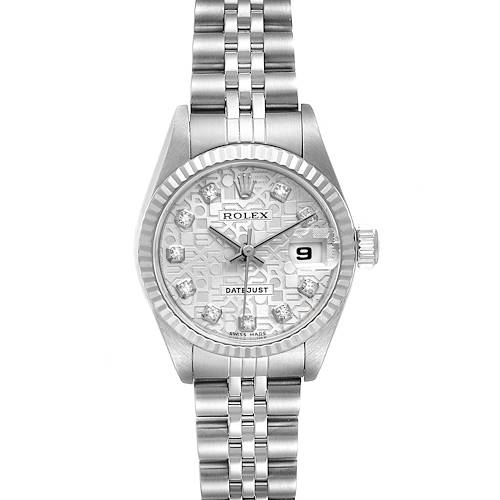 Photo of Rolex Datejust Steel White Gold Diamond Ladies Watch 79174 Box Papers