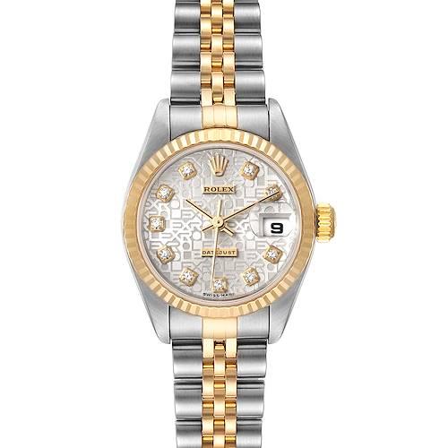 Photo of Rolex Datejust Steel Yellow Gold Diamond Dial Ladies Watch 79173