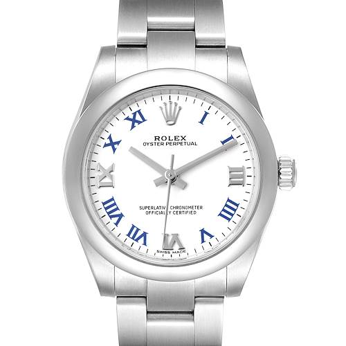 Photo of Rolex Oyster Perpetual Midsize White Dial Ladies Watch 177200 Unworn