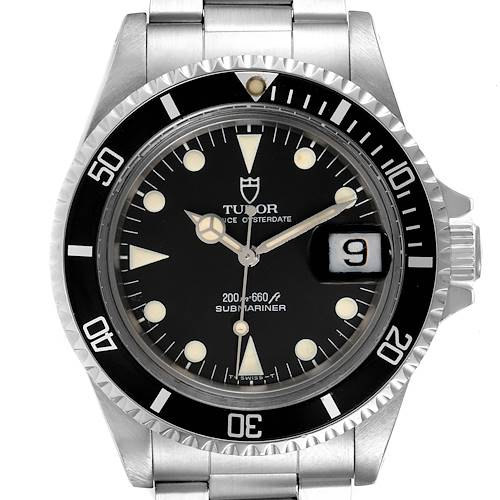 Photo of Tudor Submariner Prince Oysterdate Black Dial Steel Mens Watch 79090 Papers