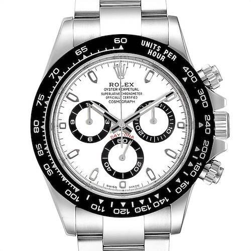 Photo of Rolex Daytona Ceramic Bezel White Dial Chronograph Mens Watch 116500 PLUS 2.5 LINKS