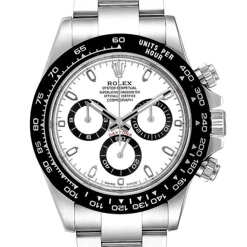 Rolex Daytona Ceramic Bezel White Dial Chronograph Mens Watch 116500 PLUS 2.5 LINKS SwissWatchExpo