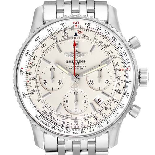 Photo of Breitling Navitimer 01 Limited Edition Silver Dial Steel Mens Watch AB0123
