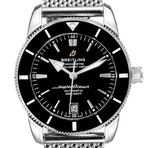 Photo of Breitling Superocean Heritage II 42 Black Dial Steel Mens Watch AB2010 Unworn