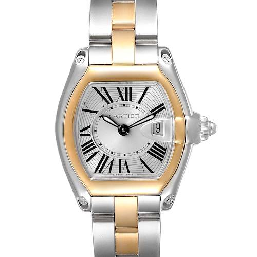 Photo of Cartier Roadster Silver Dial Steel Yellow Gold Ladies Watch W62026Y4