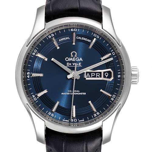 Photo of Omega DeVille Hour Vision Blue Dial Steel Watch 433.33.41.22.03.001 Box Card