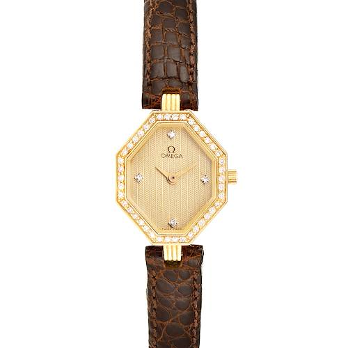 Photo of Omega DeVille Mini Yellow Gold Diamond Cocktail Ladies Watch 1450