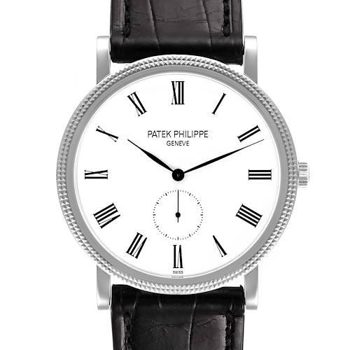 Photo of Patek Philippe Calatrava 18k White Gold Mechanical Mens Watch 5119