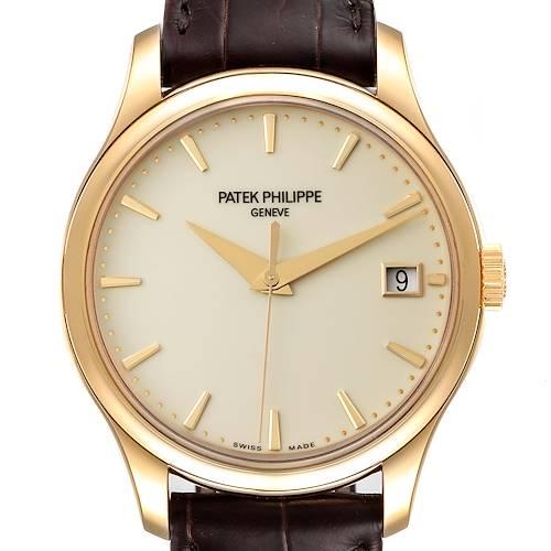 Photo of Patek Philippe Calatrava Hunter Case Yellow Gold Mens Watch 5227 Unworn