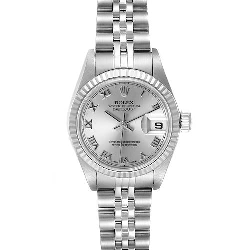 Photo of Rolex Datejust Steel White Gold Silver Dial Ladies Watch 79174 Box Papers