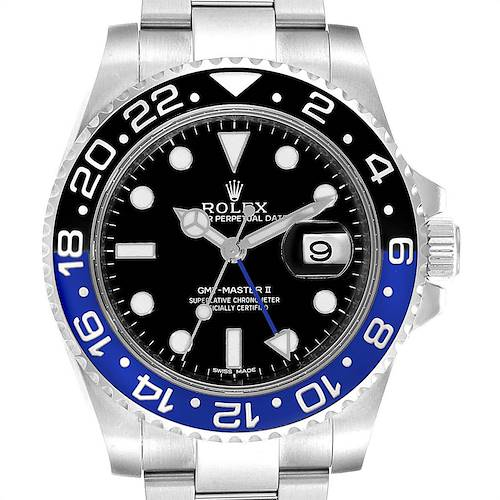 Photo of Rolex GMT Master II Batman Blue Black Ceramic Bezel Steel Watch 116710