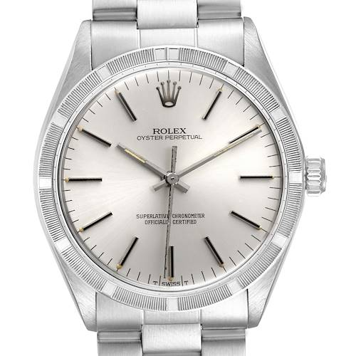 Photo of Rolex Oyster Perpetual Stainless Steel Vintage Mens Watch 1007