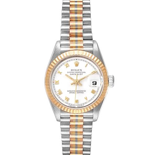Photo of Rolex President Tridor White Yellow Rose Gold Ladies Watch 69179